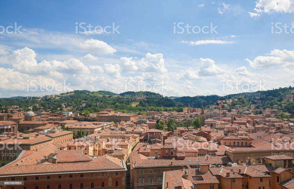 Historic Center of Bologna, Italy stock photo