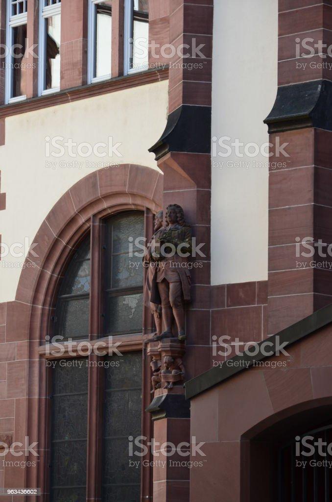 Historic Center of Frankfurt - Zbiór zdjęć royalty-free (Architektura)