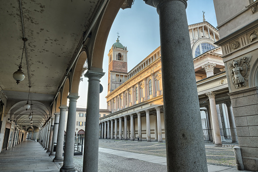 istock Historic center of Novara and Novara cathedral, Italy 1148154290