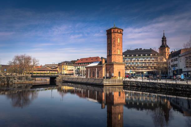 Falun - 30. März 2018: Historische Zentrum der Stadt Falun in Dalarna, Schweden – Foto