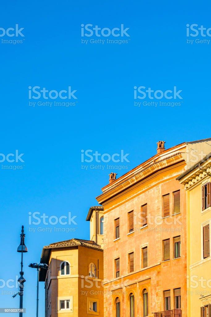 Historic Center Roman Home Buildings Facades stock photo
