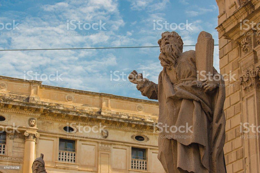 Centro storico di San Sebastiano Chiesa di architettura barocca - foto stock
