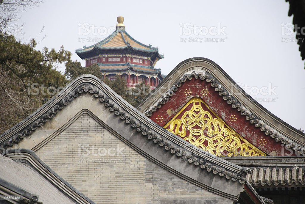 historic Chinese buildings royalty-free stock photo