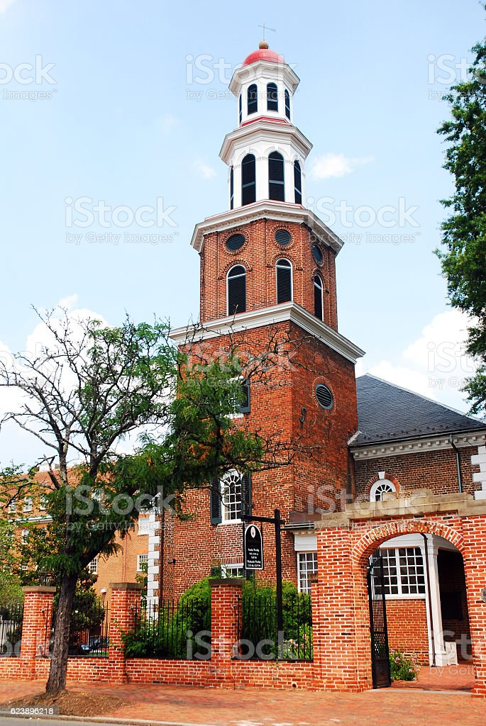 Historic Christ Church, Alexandria, Virginia stock photo