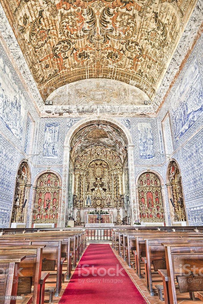 Historic church in Castro, Verde, Alentejo, Portugal stok fotoğrafı