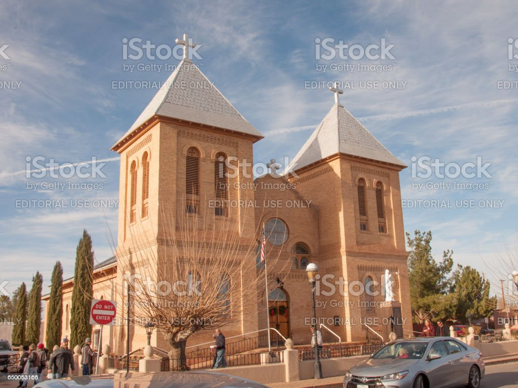 Historic Church in Old Mesilla Near Las Cruces, New Mexico stock photo