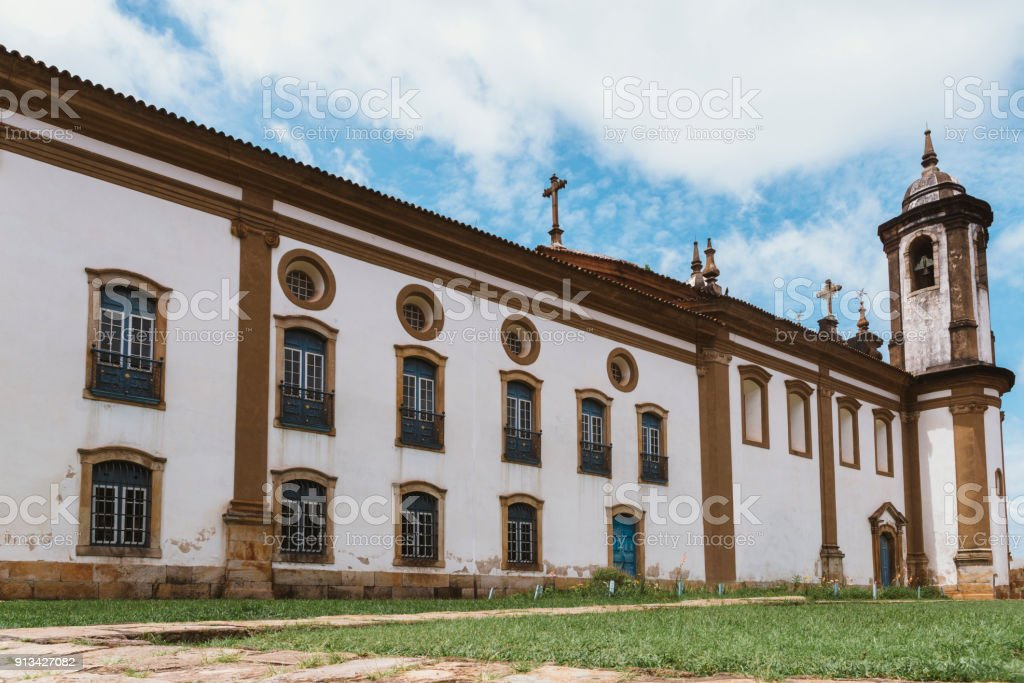 Historic church in Ouro Preto, Minas Gerais, Brazil stock photo