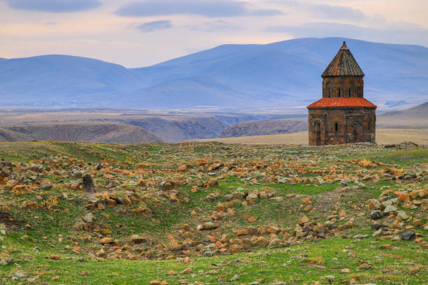 historic church Historical Armenian church in Kars Turkey. 2020 anatolia stock pictures, royalty-free photos & images