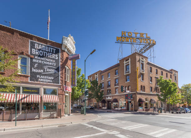 Historisches Stadtzentrum von Flagstaff, Arizona, USA – Foto