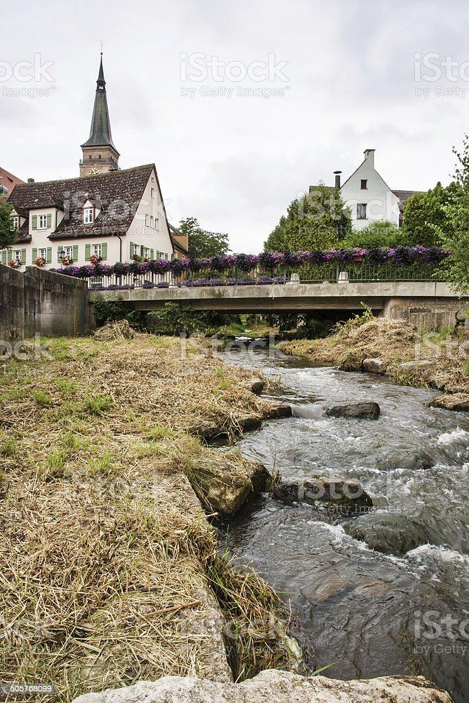 Historische Stadtzentrum Schwabach - Lizenzfrei Alt Stock-Foto