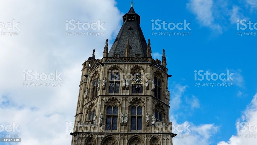 Historic city hall in Cologne stock photo
