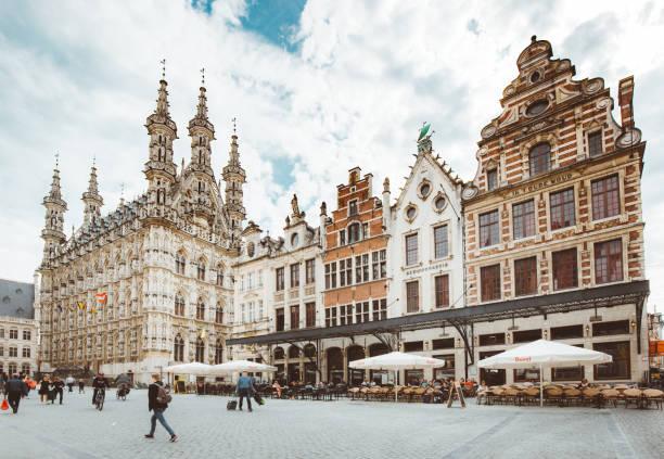 Historische Stadt Leuven, Flandern, Belgien – Foto