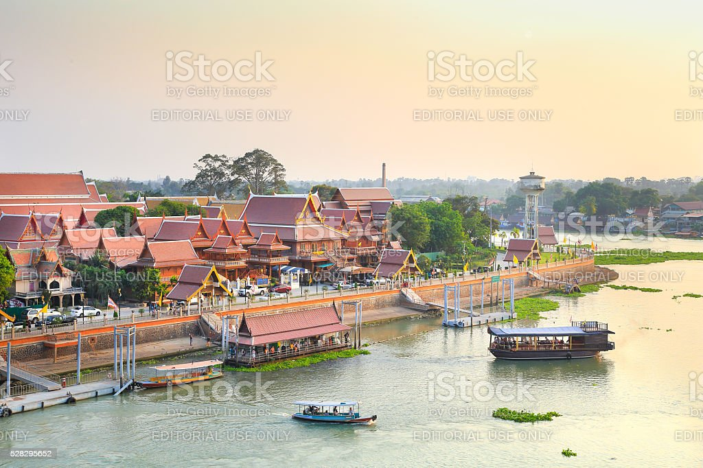 Historic City of Phra Nakhon Si Ayutthaya stock photo
