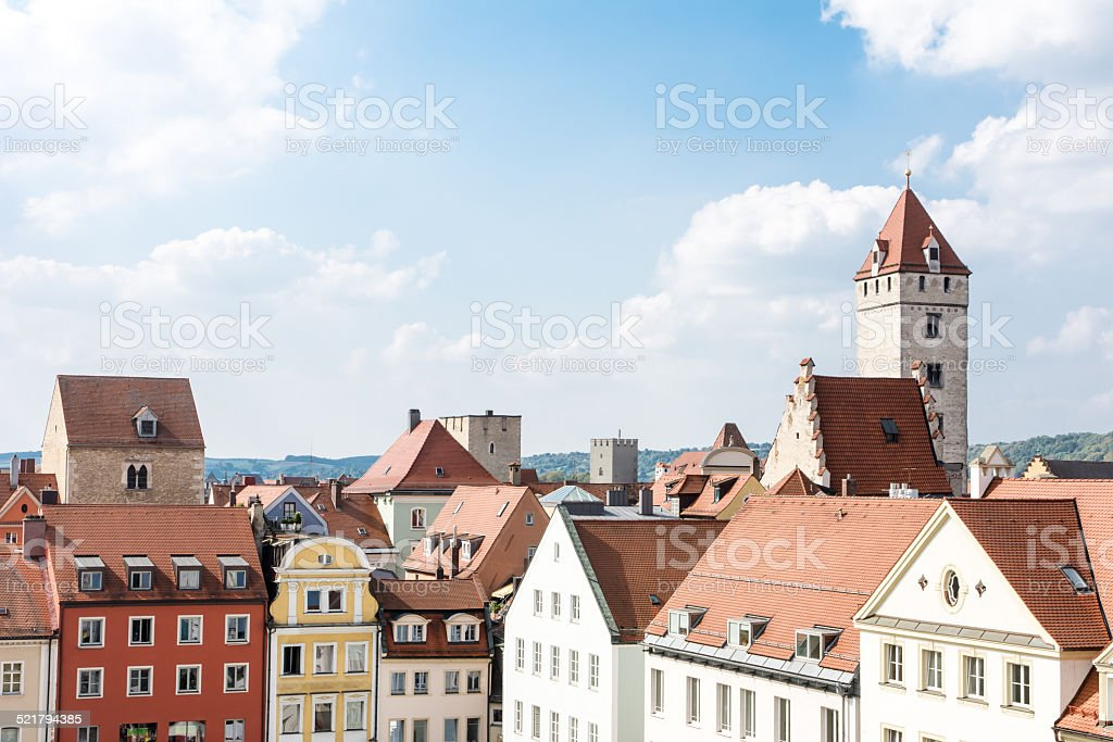 Historic City of Regensburg stock photo
