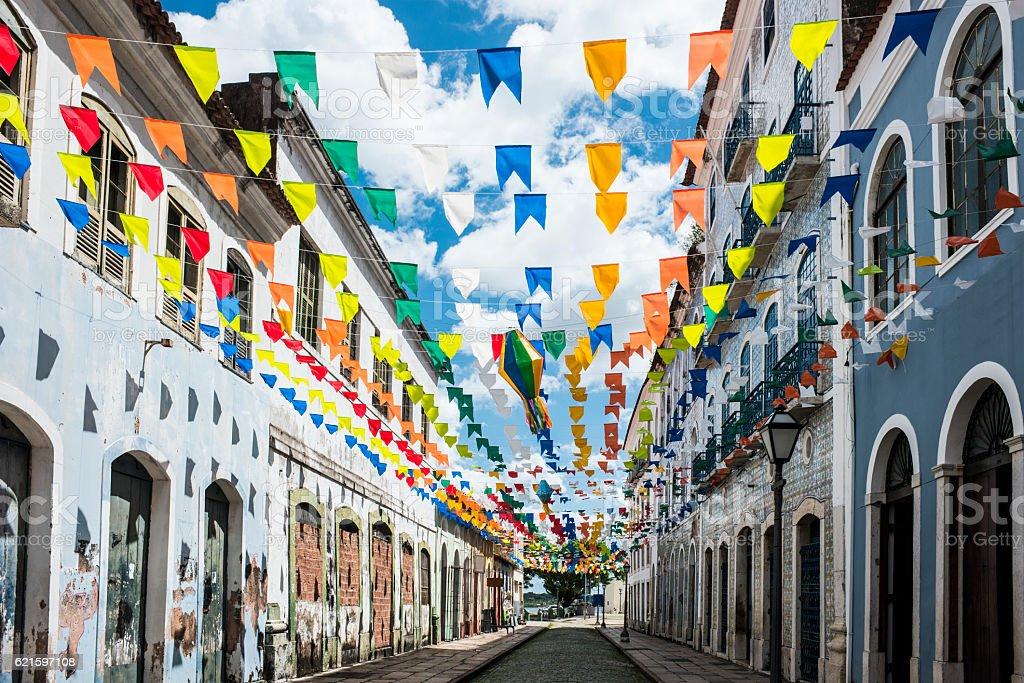 Historic city of Sao Luis, Maranhao State, Brazil stock photo