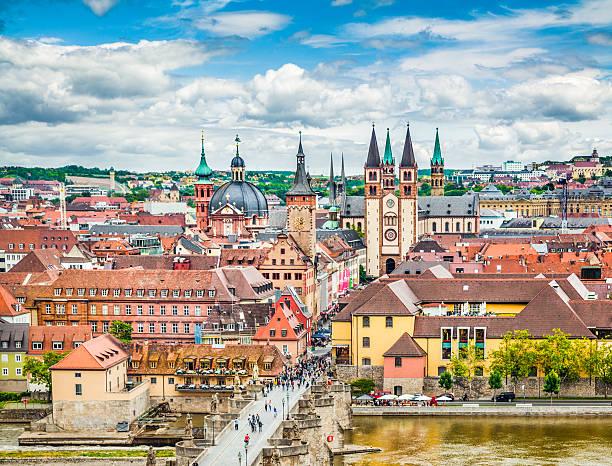 historic city of würzburg, franconia, bavaria, germany - marienplatz bildbanksfoton och bilder