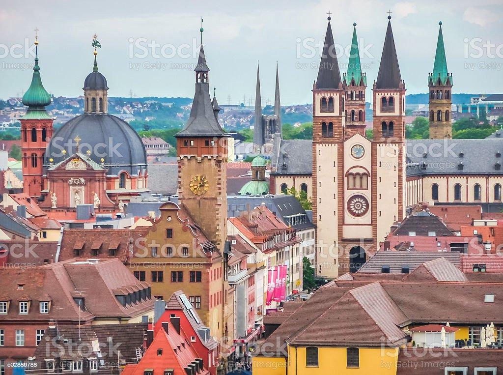 Altstadt Von Würzburg Franken Bayern Deutschland Stockfoto und mehr