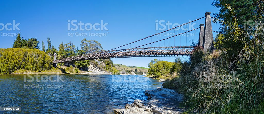 Historic Clifden Suspension Bridge stock photo