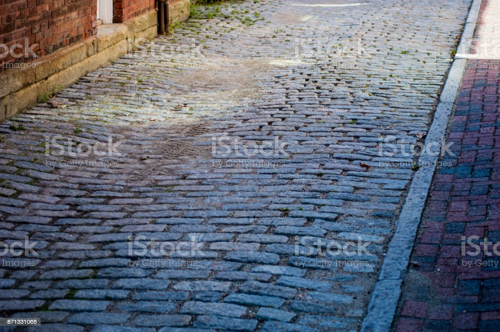 Historic Cobblestone Pathway stock photo