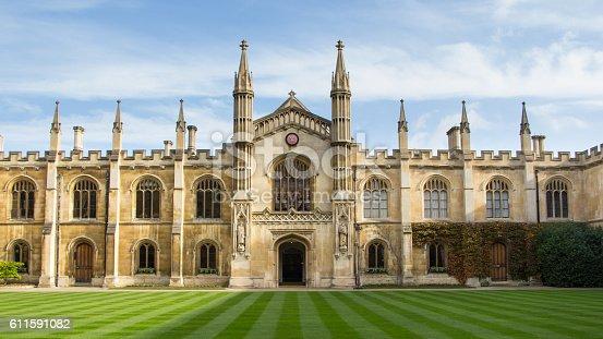 istock Historic  college building in Cambridge, United Kingdom 611591082