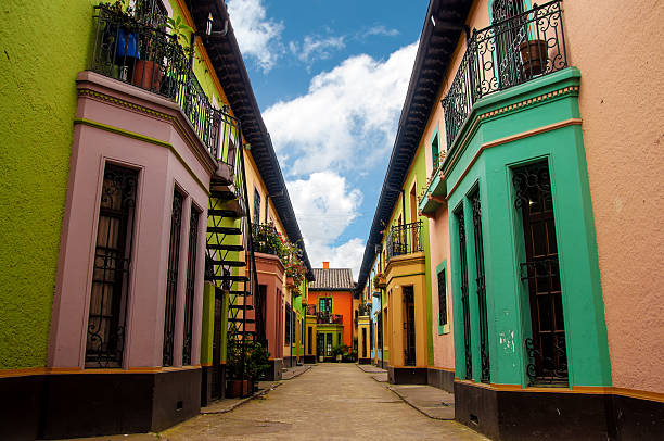 Historic Colorful Buildings stock photo