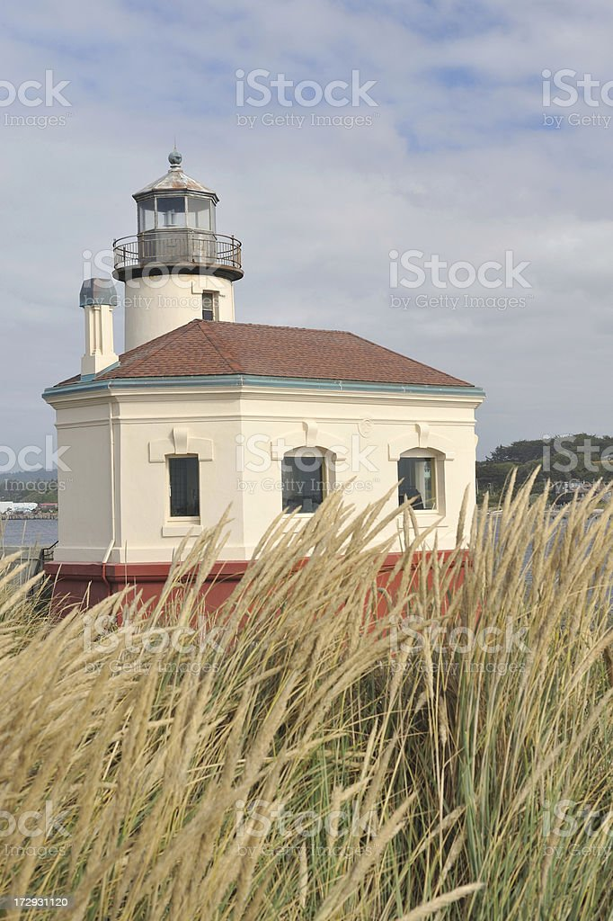 Historic Coquille River Lighthouse stock photo