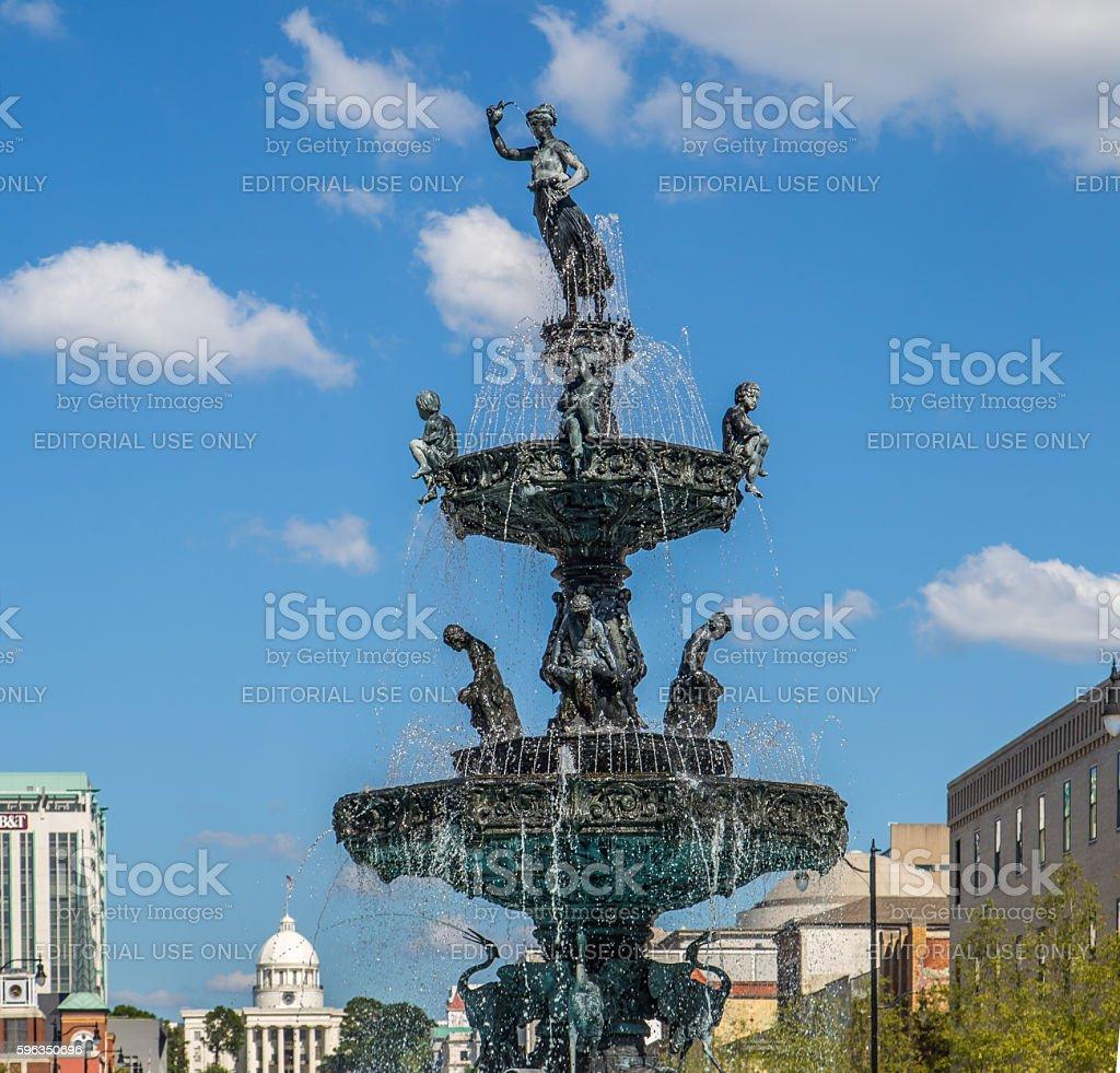 Historic Court Square Fountain, Montgomery, Alabama royalty-free stock photo