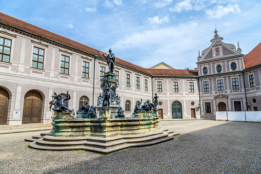 Historic courtyard inside the Residenz in Munich