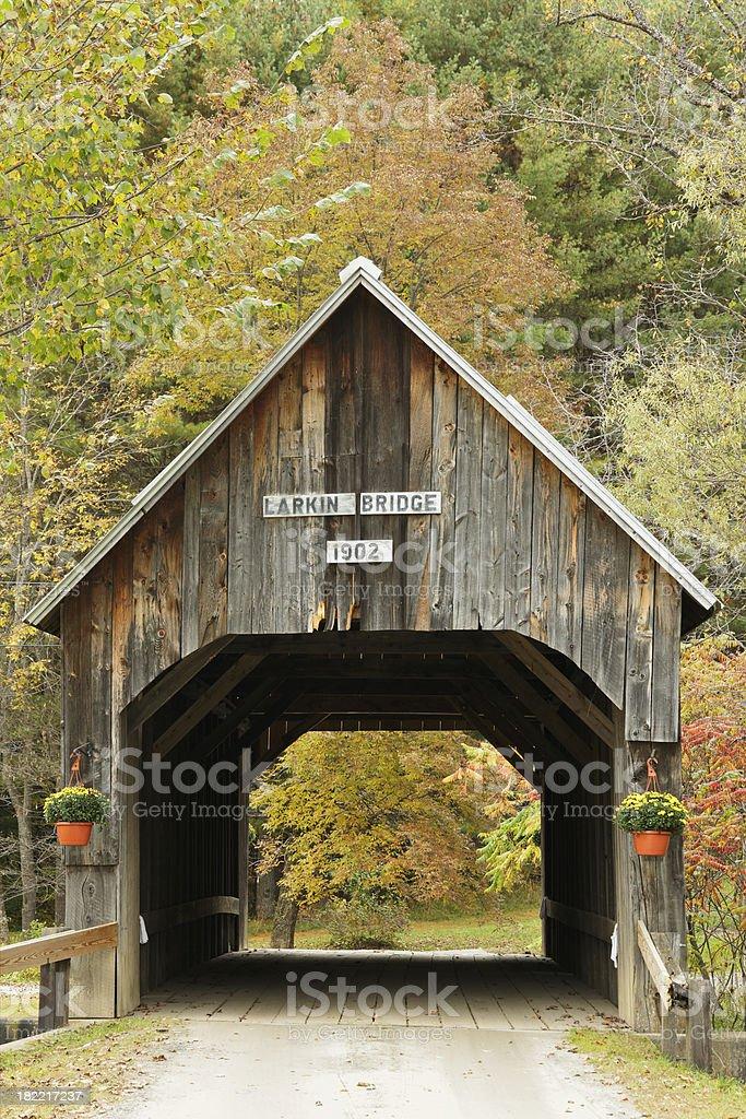 Historic covered bridge stock photo