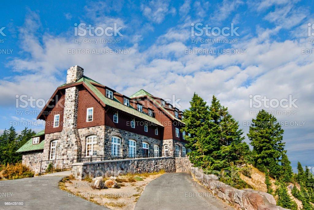 Historic Crater Lake Lodge stock photo