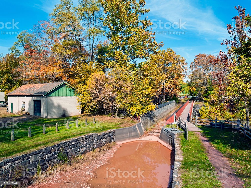 Historic Delaware Canal stock photo