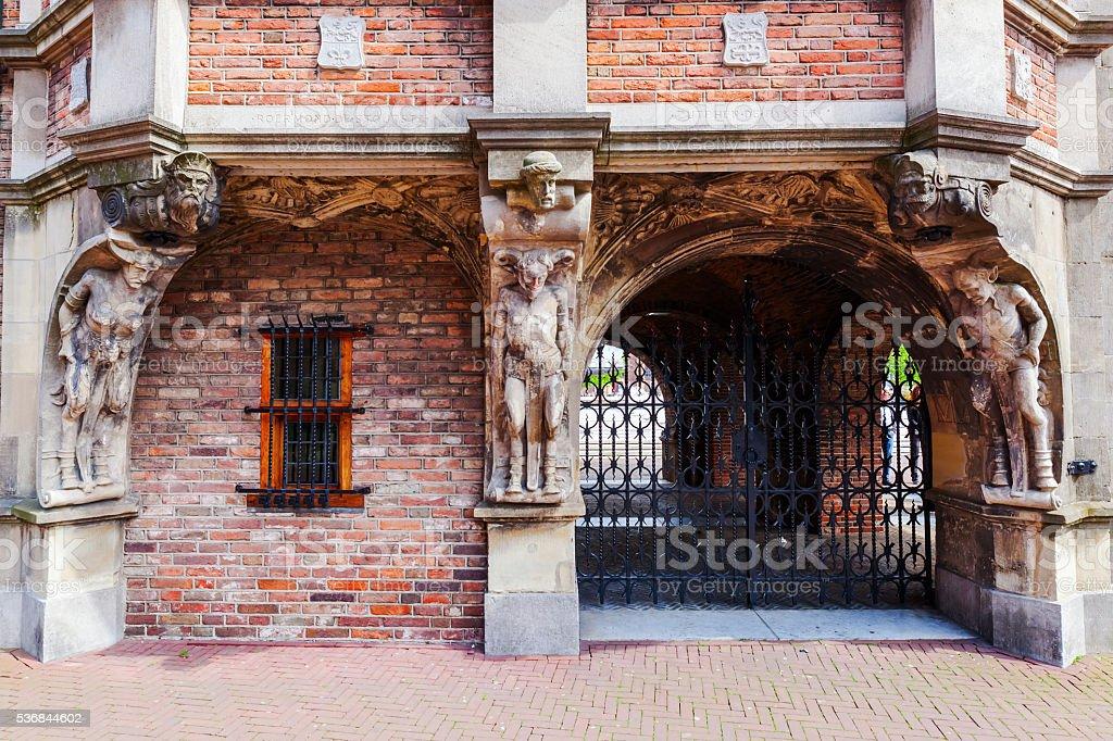 historic devil house in Arnhem, Netherlands foto