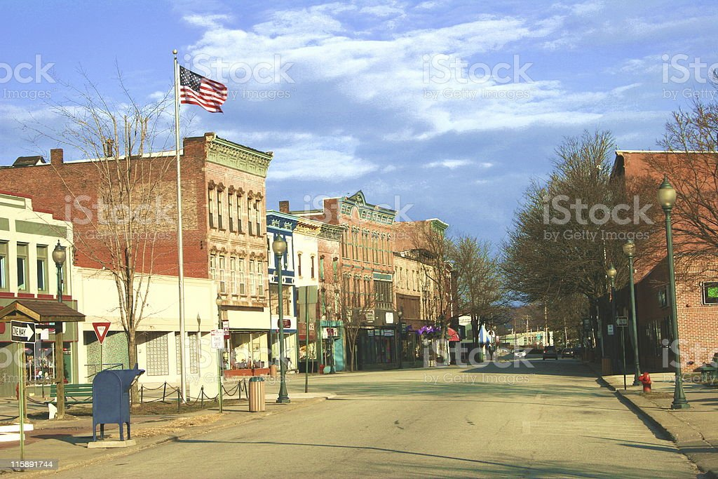 Historic District, East Coast Town stock photo