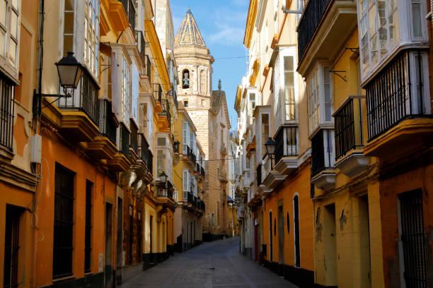 Historischen Bezirk von Cadiz, Andaluse, Spanien – Foto