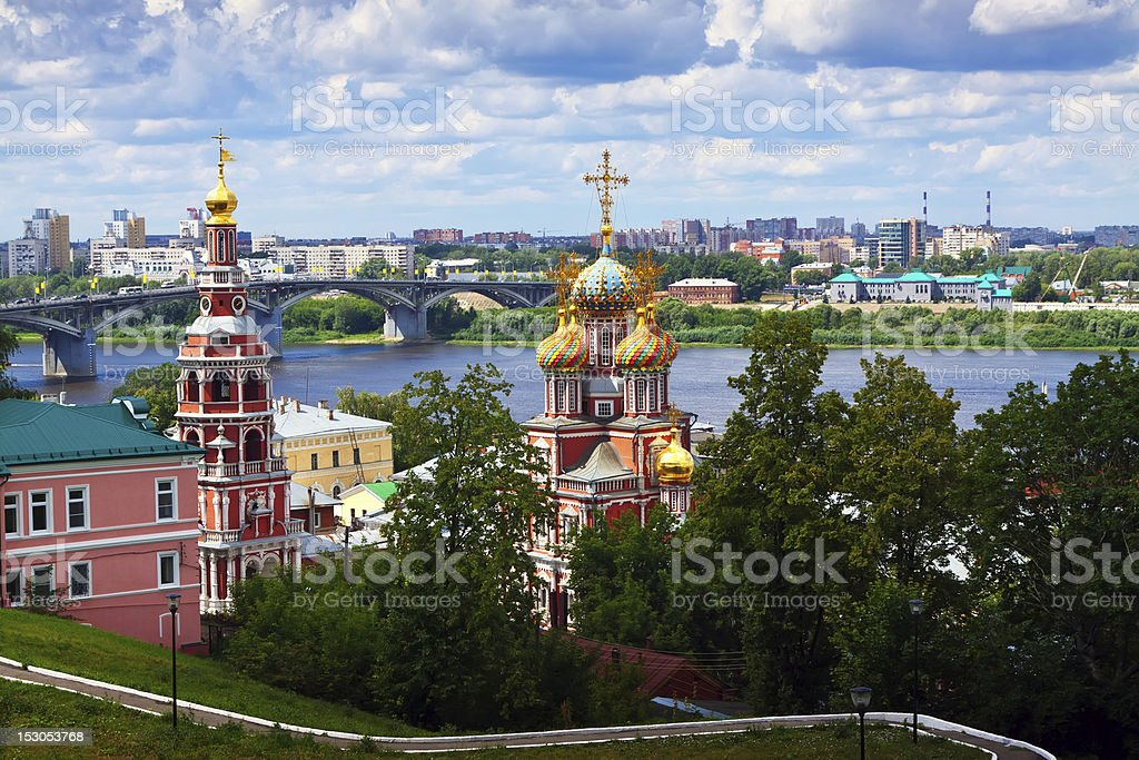 historic district of Nizhny Novgorod stock photo