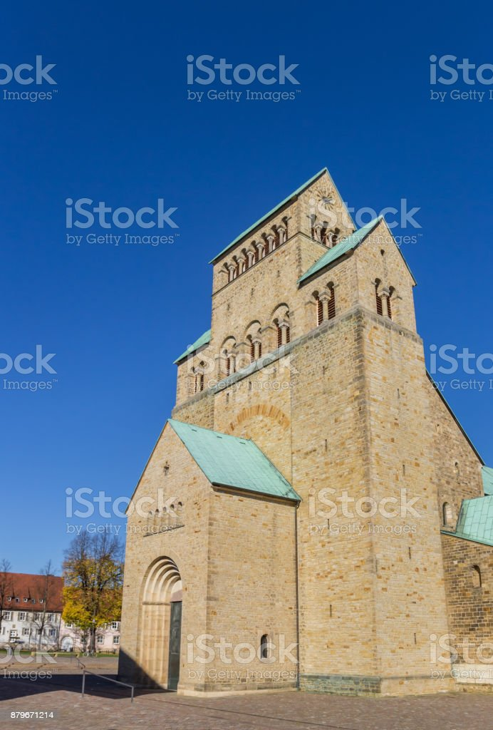 Historic Dom church at the Domhof square in Hildesheim, Germany Historic Dom church at the Domhof square in Hildesheim, Germany Architecture Stock Photo