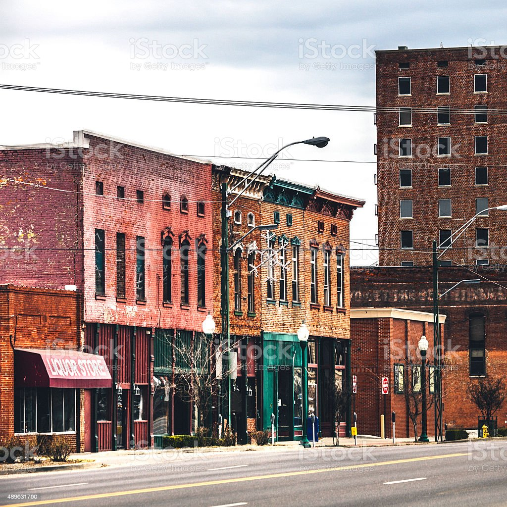 Historic downtown buildings. Fort Smith, Arkansas. stock photo