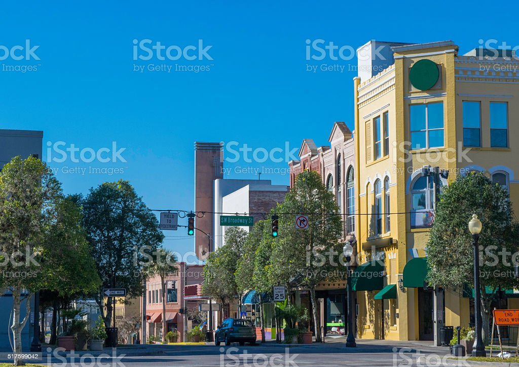 Historic Downtown Buildings in Southern USA stock photo