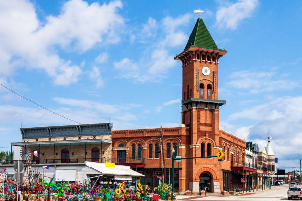 Historic Downtown Grapevine Texas with its collection of unique hops and its amazing convention center and visitor's bureau