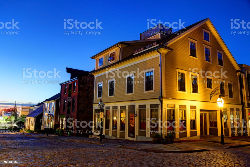 Historic Downtown New Bedford stock photo
