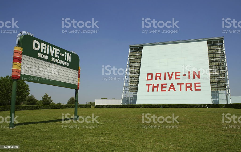 Historic Drive-In royalty-free stock photo