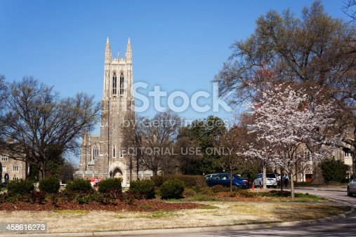istock Historic Duke University campus in the spring 458616273