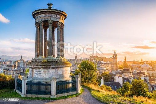 istock Historic Edinburgh from Calton Hill at sunset 494855064