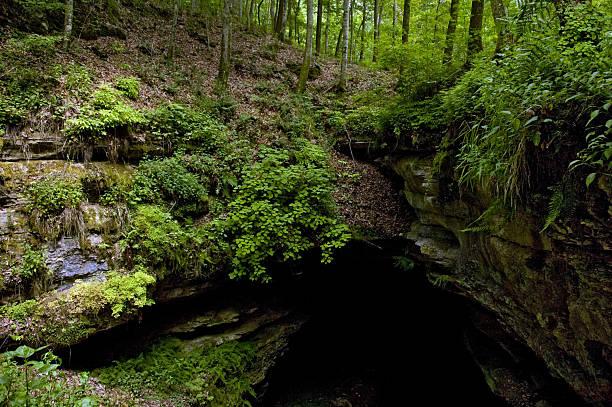 Historic Entrance to Mammoth Cave, Kentucky stock photo