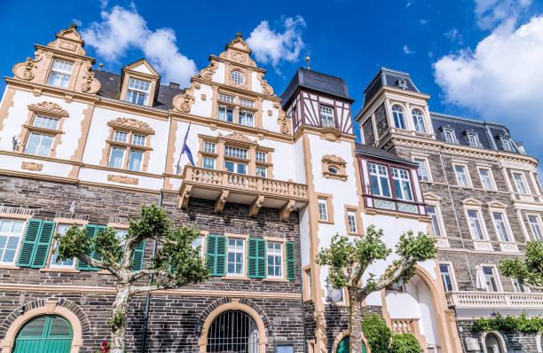 Historischen Fassaden Bernkastel-Kues Rheinland-Pfalz Deutschland – Foto