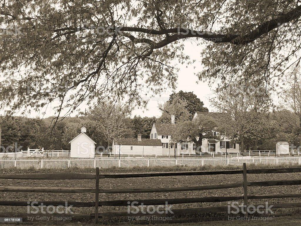Historic Farm Sepia royalty-free stock photo