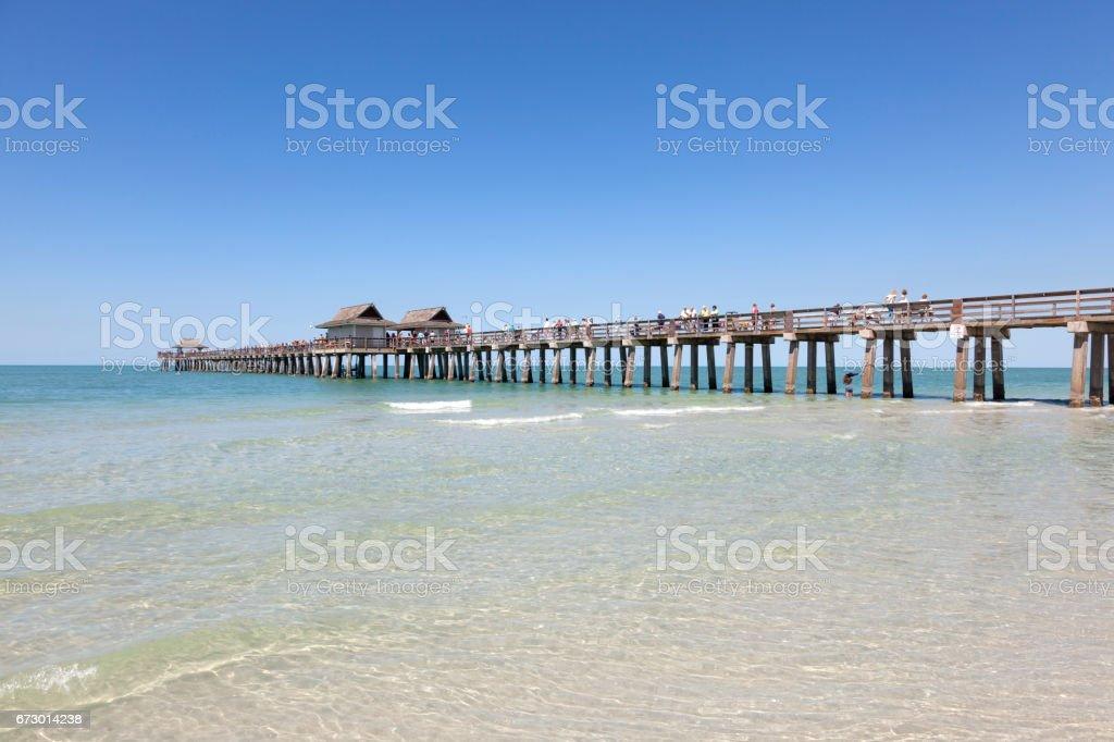 Historic Fishing Pier In Naples Florida Stock Photo ...