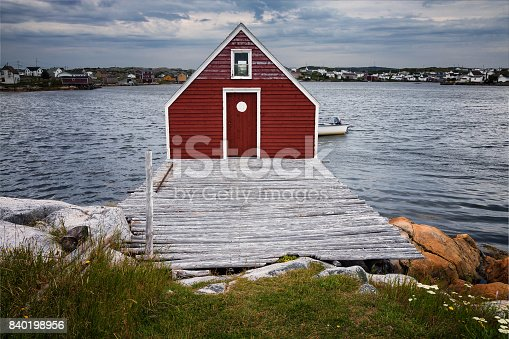 Historic fishing stages, Tilting, Fogo Island, Notre Dame Bay, Newfoundland & Labrador