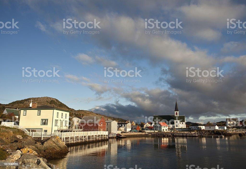 Historic Fishing Village in Newfoundland Canada royalty-free stock photo