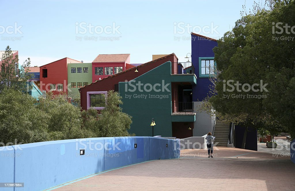 Historic Footbridge to La Placita Village Tucson Arizona royalty-free stock photo